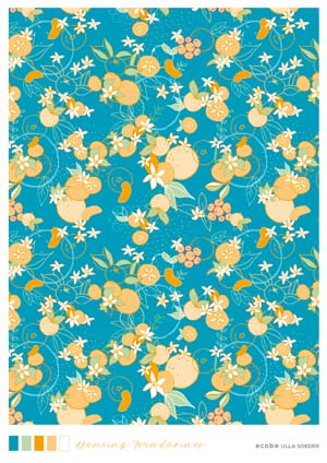 Dancing mandarines pattern
