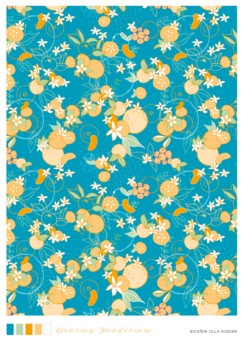 Happy Tangerines Pattern
