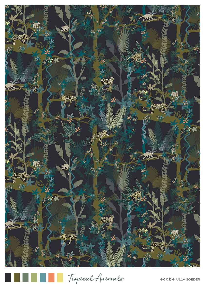 Tropical Animals Pattern