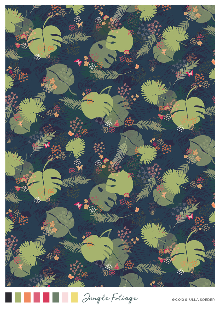 Jungle Foliage Pattern