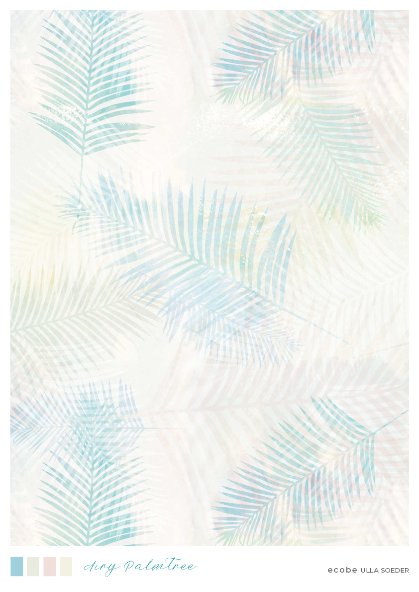 Airy palmtrees pattern