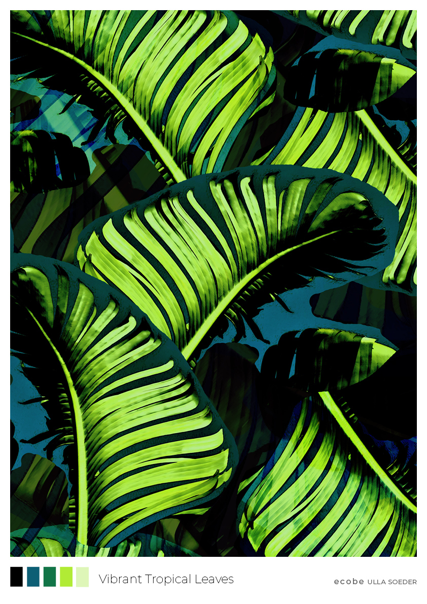 Vibrant Tropical Leaves pattern