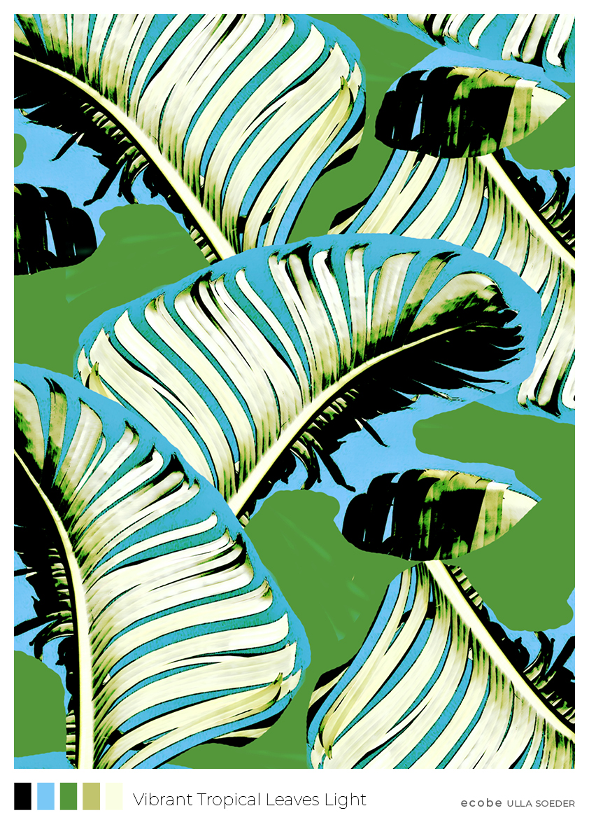Vibrant Tropical Leaves Light Pattern